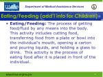 eating feeding add l info for children
