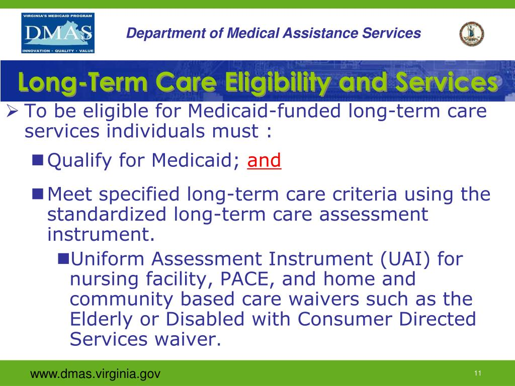 Long-Term Care Eligibility and Services