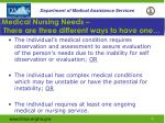 medical nursing needs there are three different ways to have one