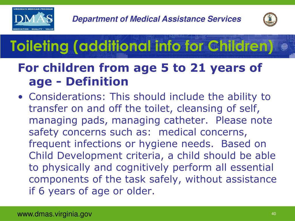 Toileting (additional info for Children)
