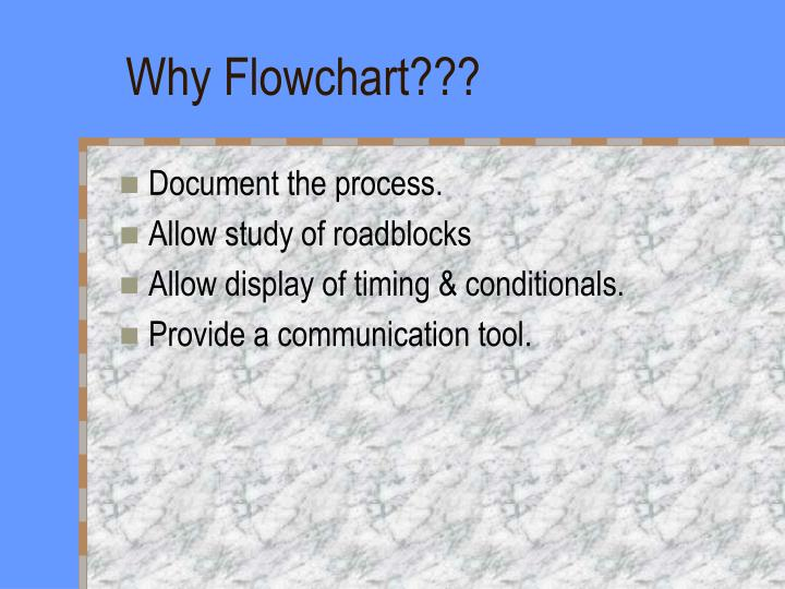 Why Flowchart???