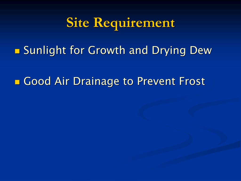 Site Requirement