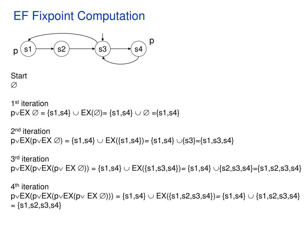 EF Fixpoint Computation