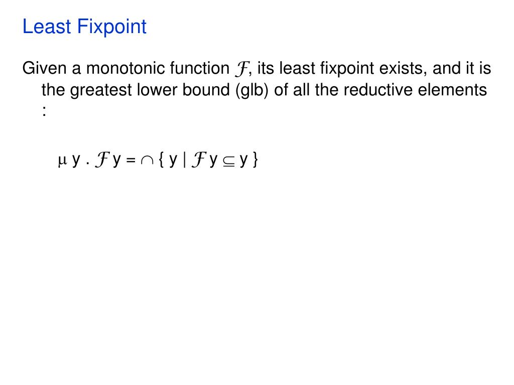 Least Fixpoint