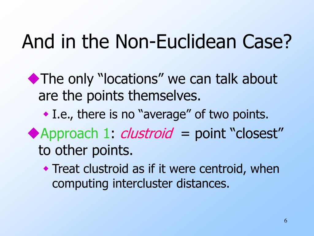 And in the Non-Euclidean Case?