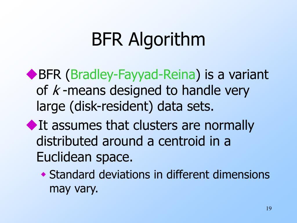 BFR Algorithm
