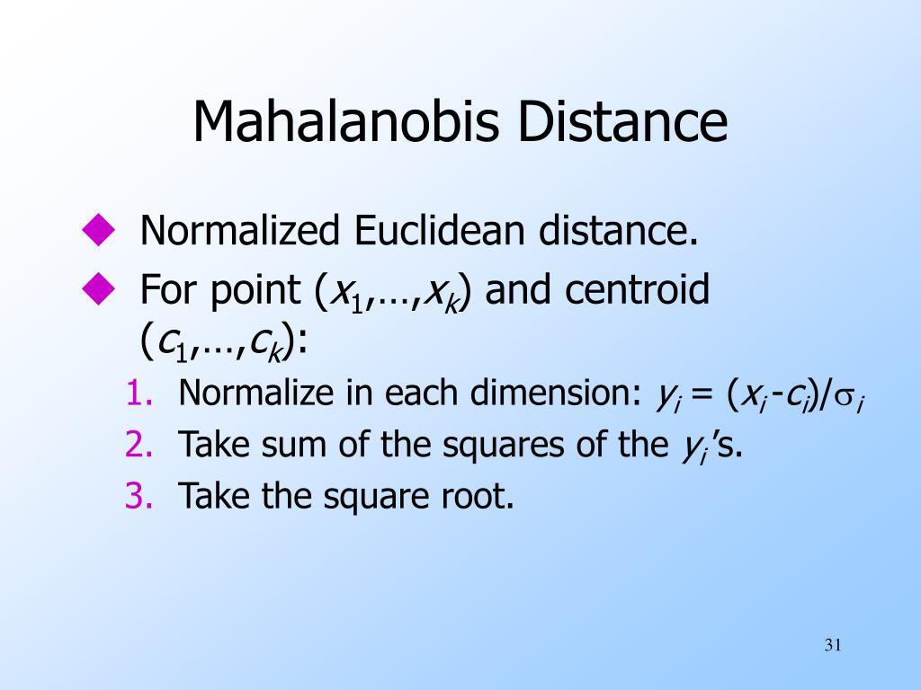 Mahalanobis Distance