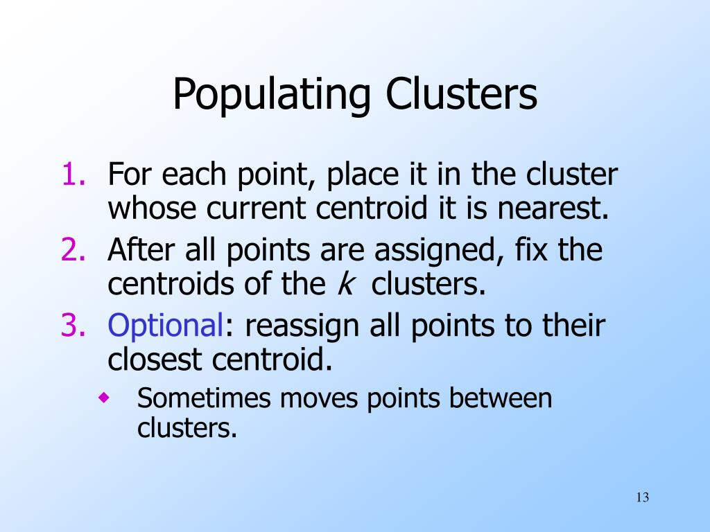Populating Clusters