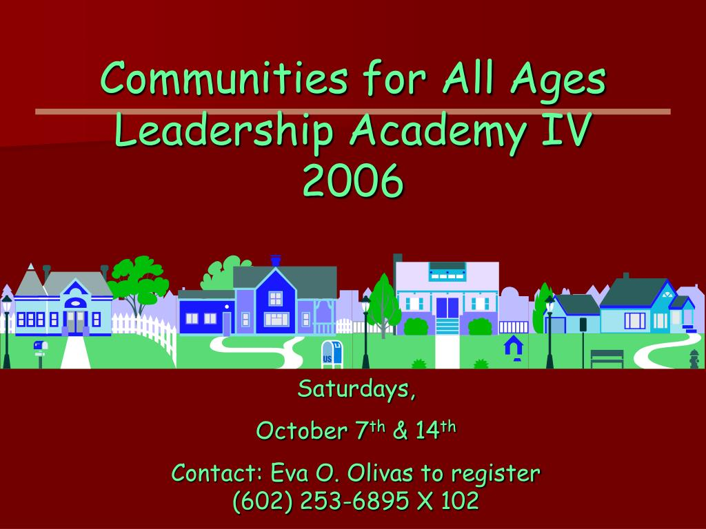 Communities for All Ages