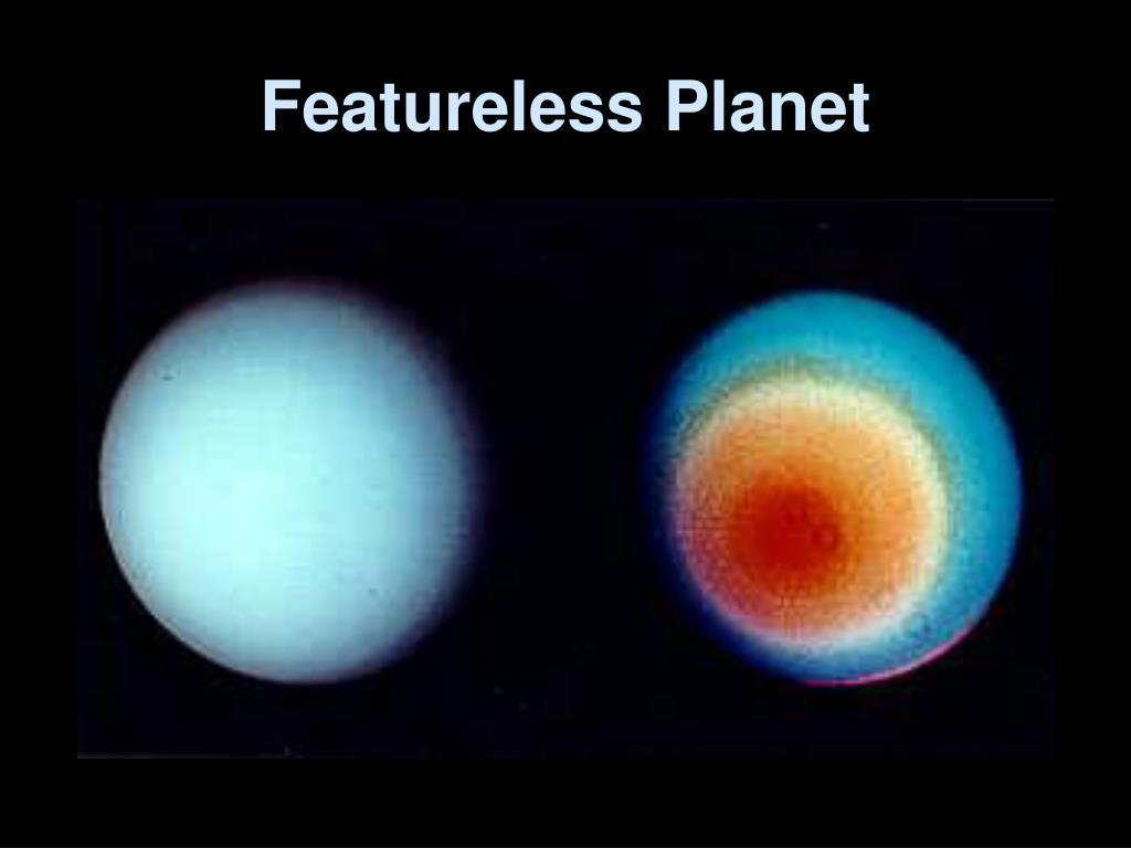 Featureless Planet