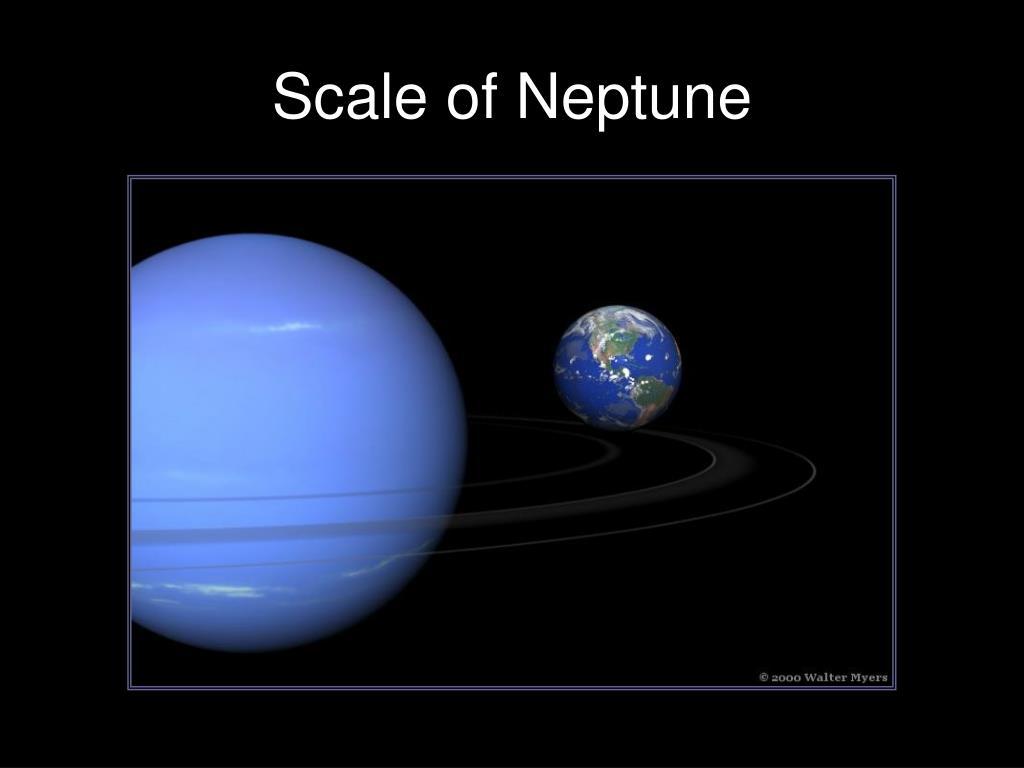 Scale of Neptune