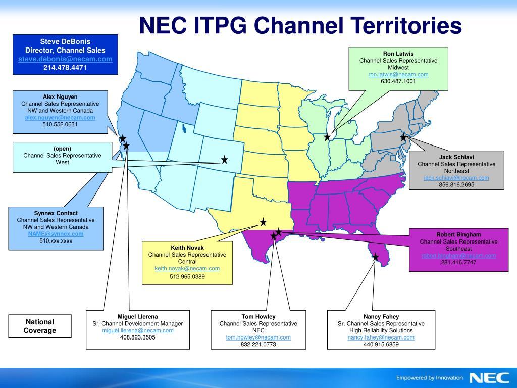 NEC ITPG Channel Territories
