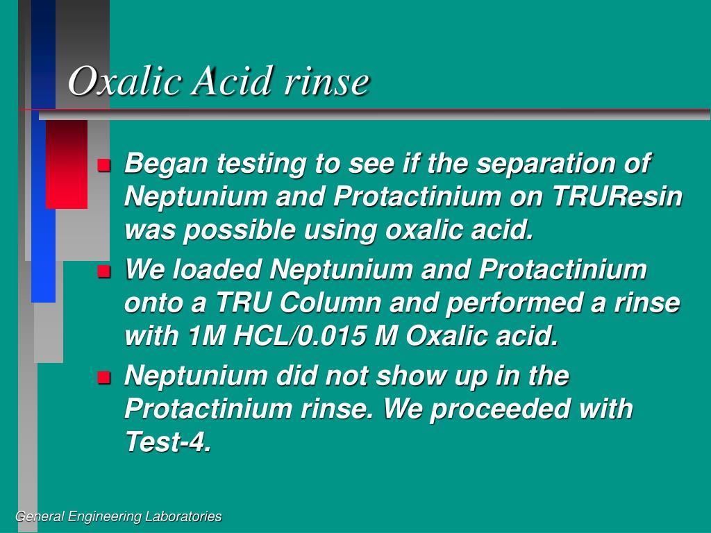 Oxalic Acid rinse