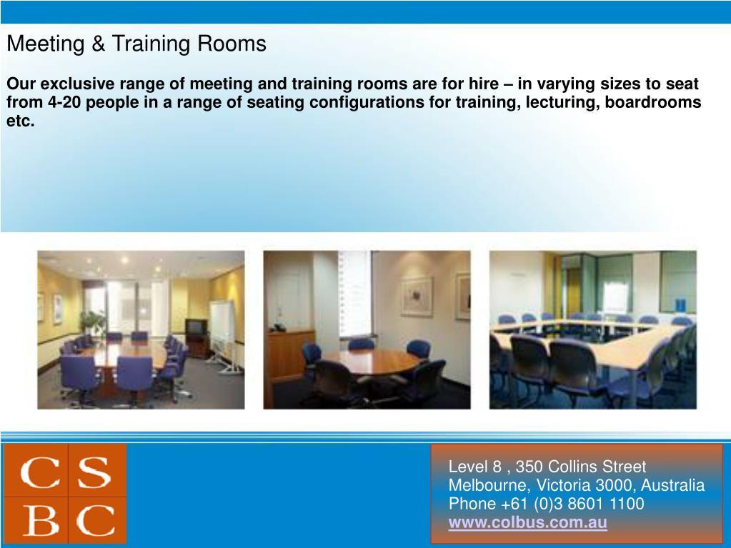 Meeting & Training Rooms