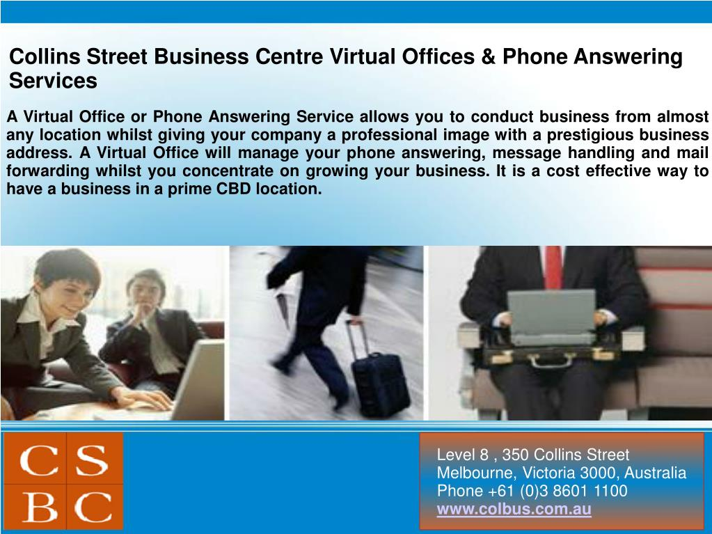 Collins Street Business Centre Virtual Offices & Phone Answering Services