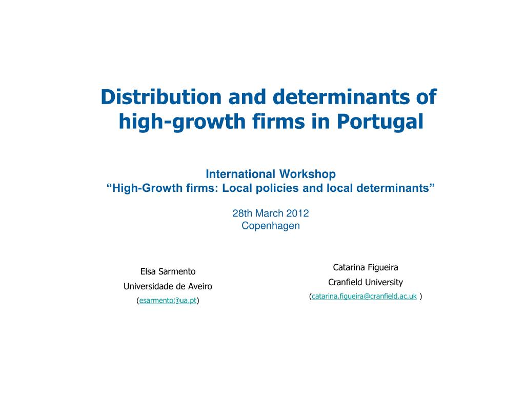 Distribution and determinants of