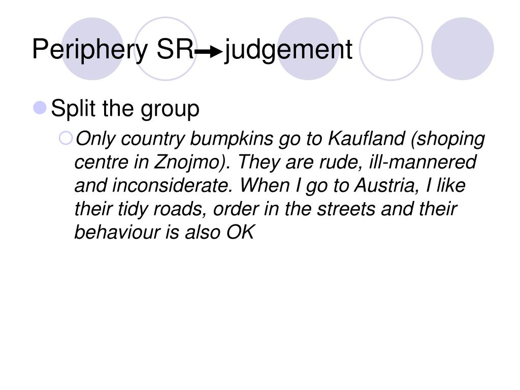 Periphery SR    judgement