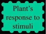 plant s response to stimuli