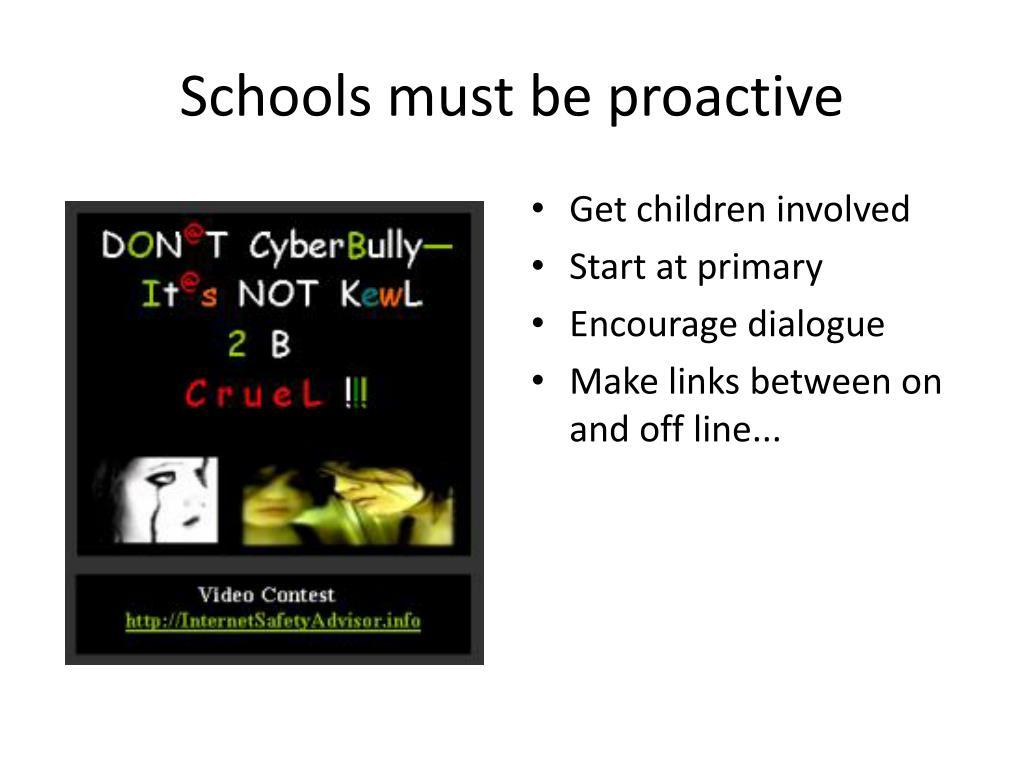 Schools must be proactive