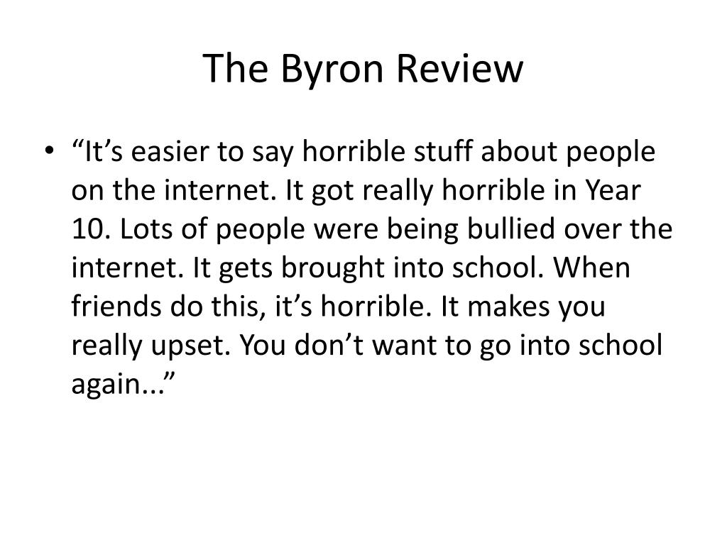 The Byron Review