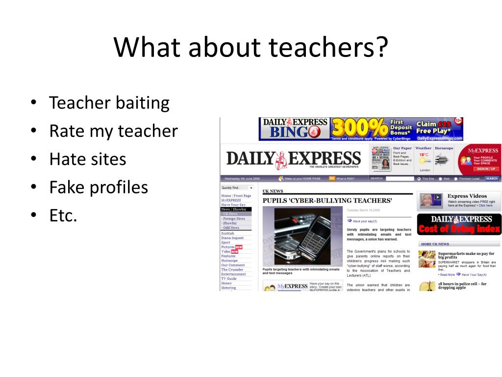 What about teachers?