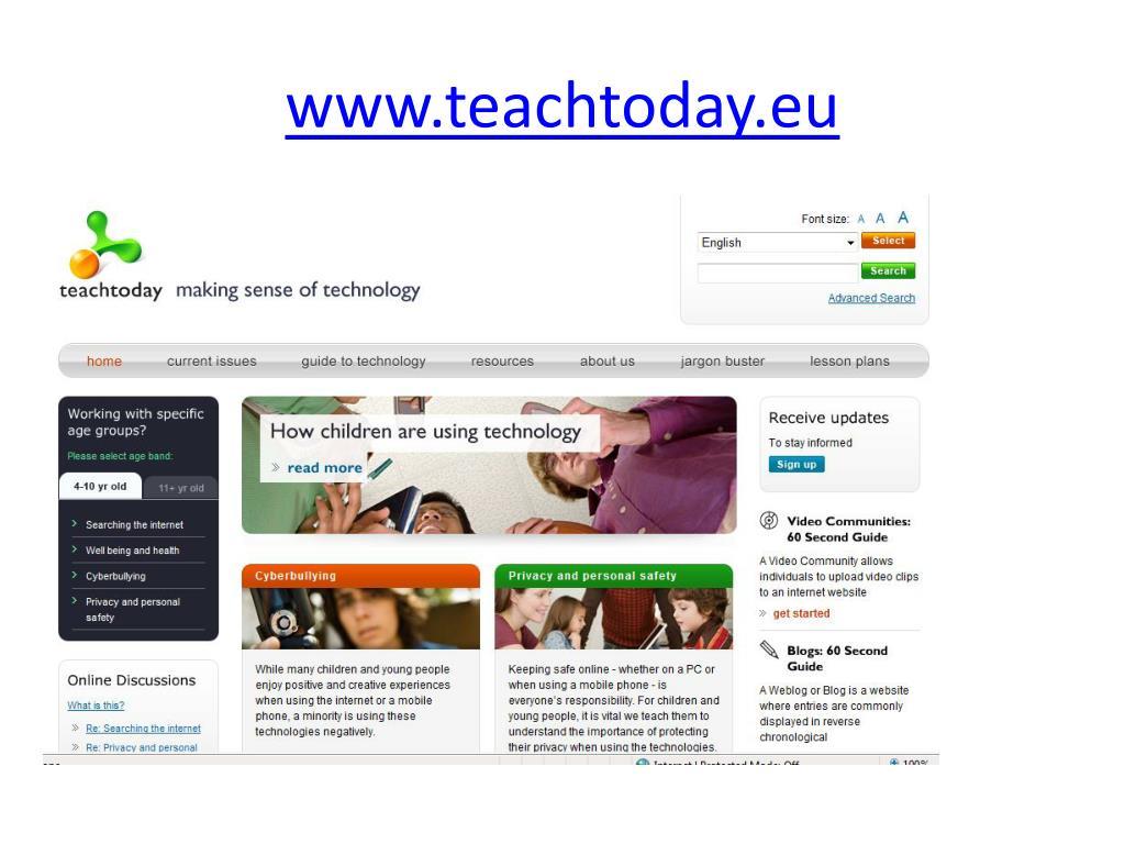 www.teachtoday.eu