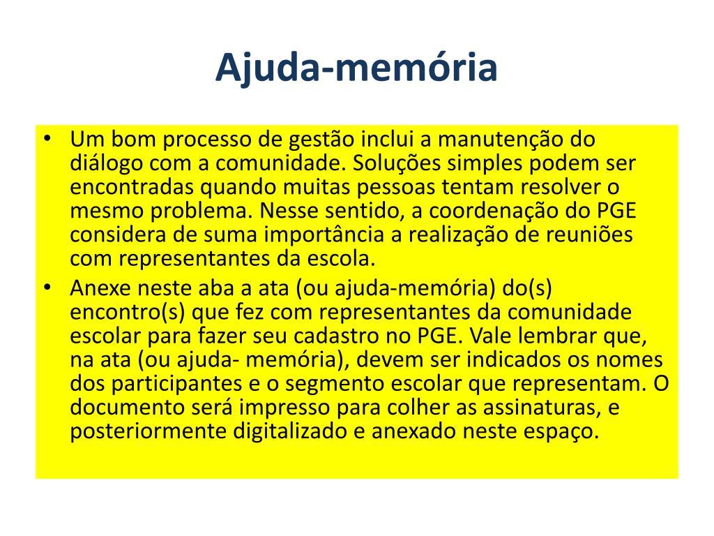 Ajuda-memória