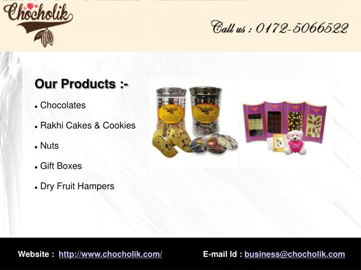 Our Products :-