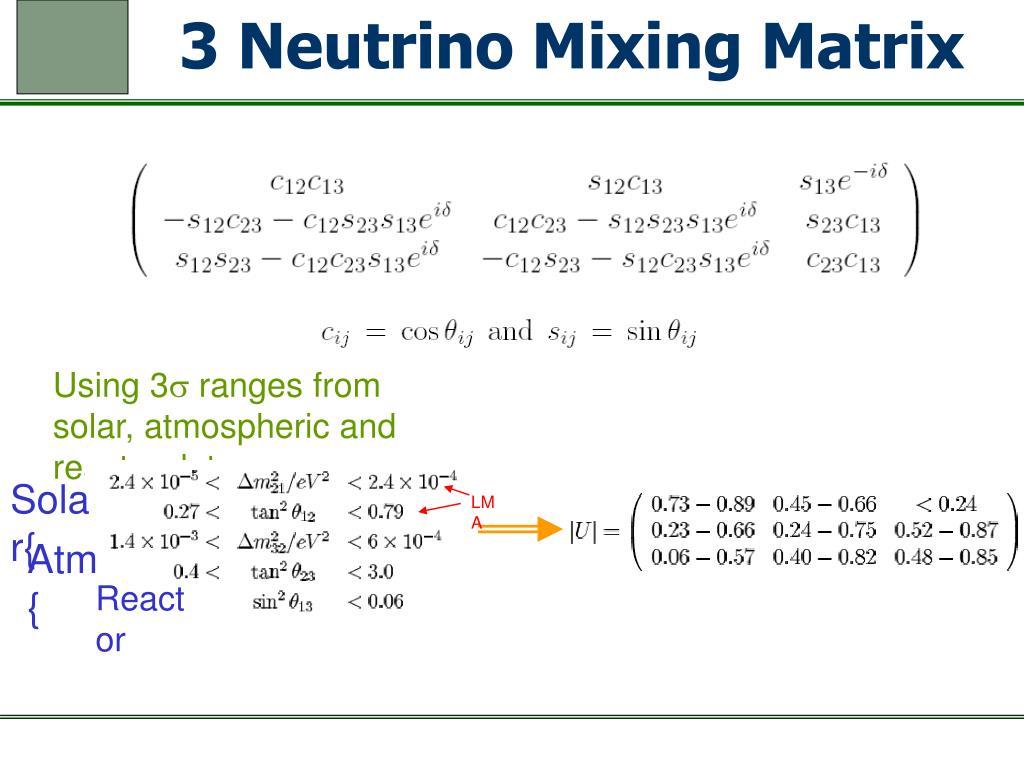 3 Neutrino Mixing Matrix