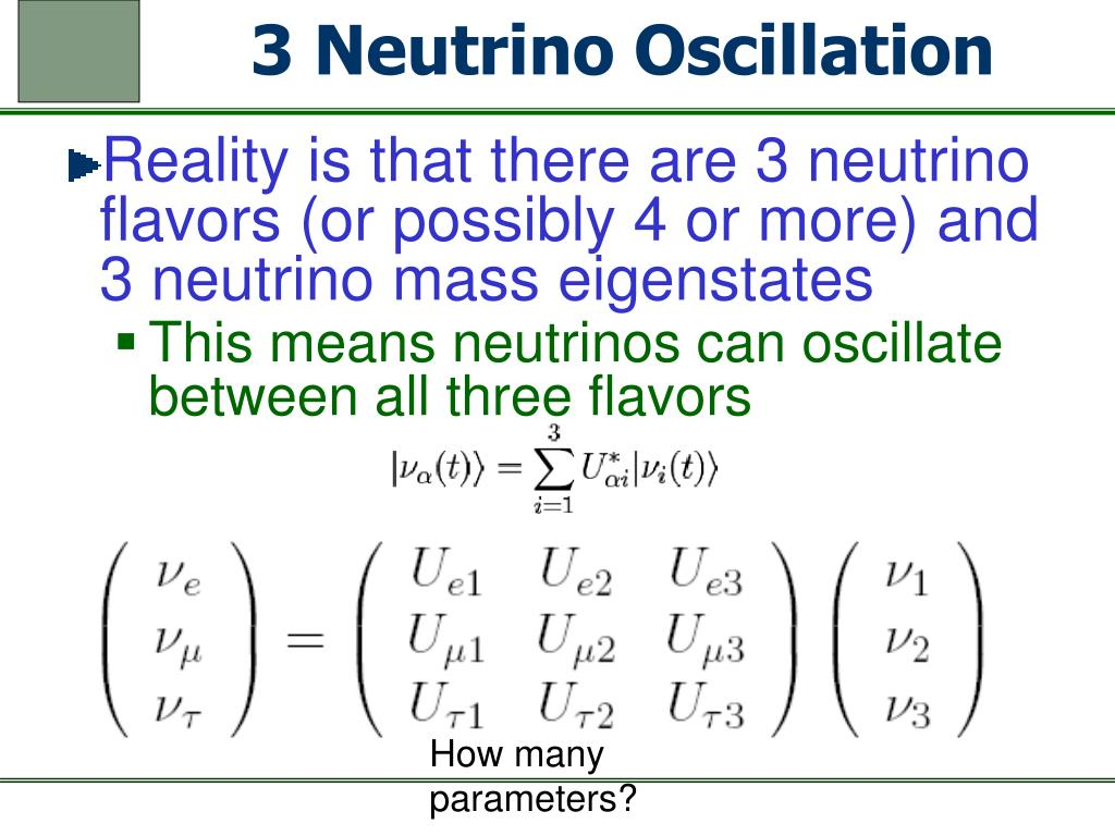 3 Neutrino Oscillation