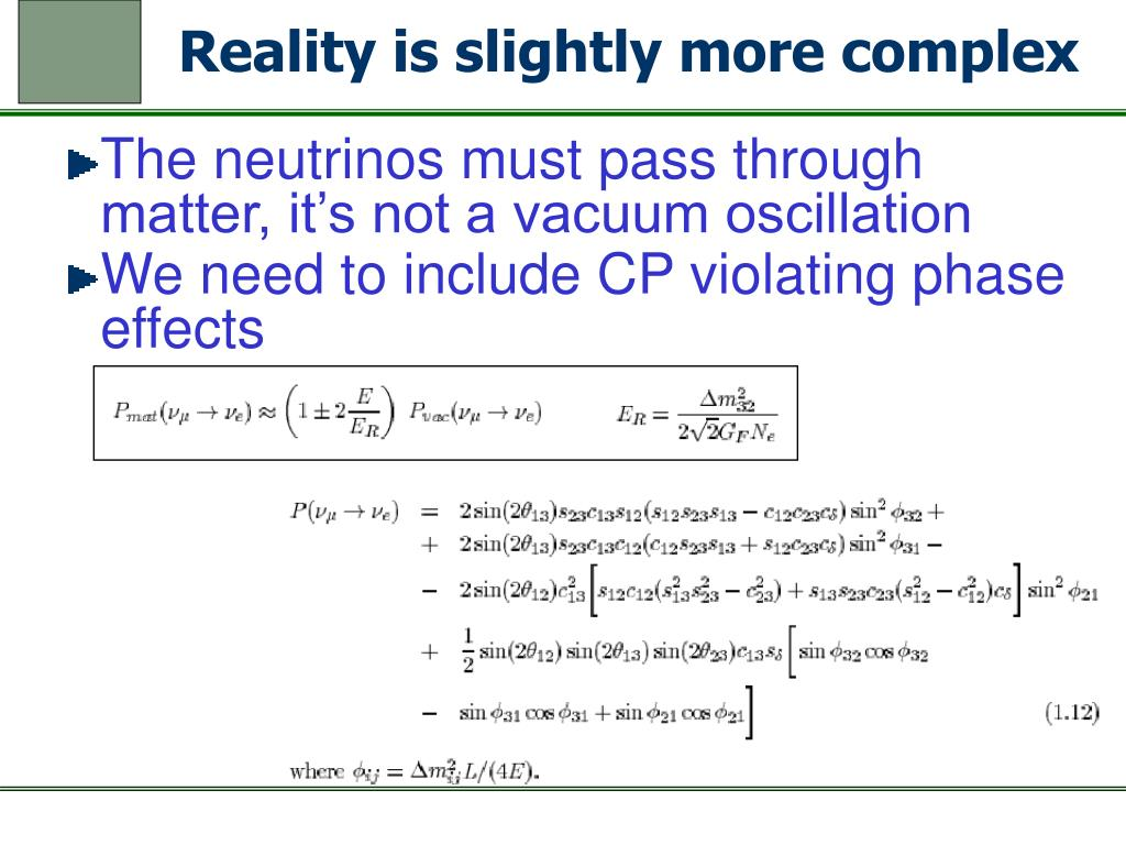 Reality is slightly more complex