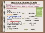 empirical or simplest formula