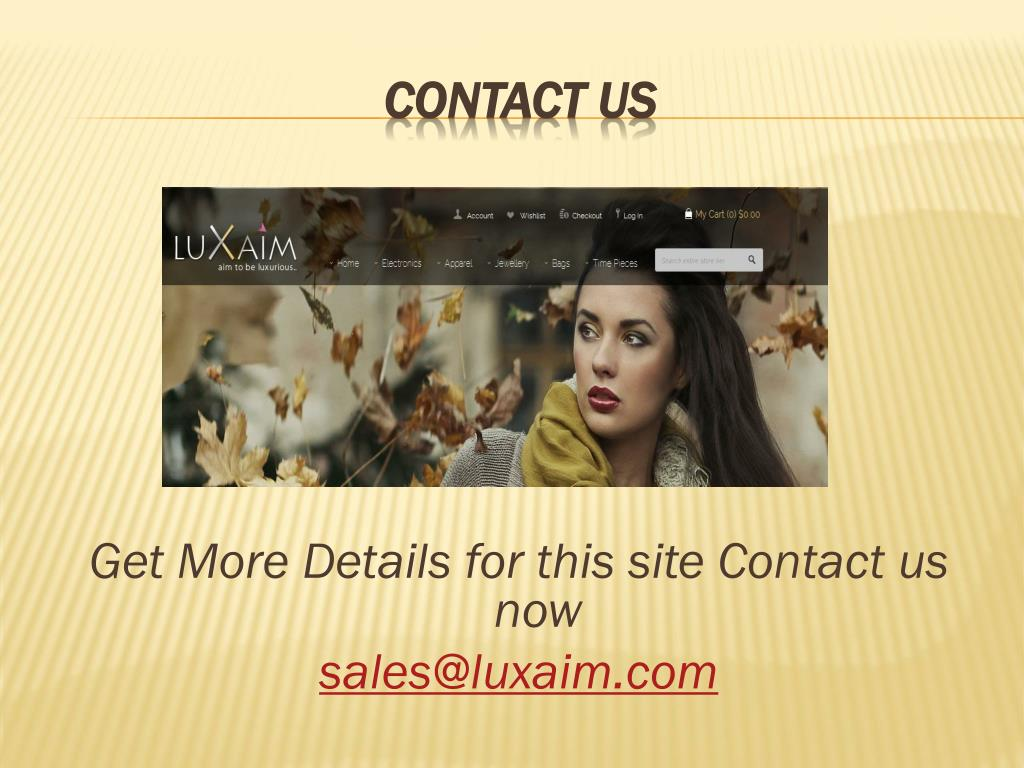 Get More Details for this site Contact us now