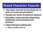 brand character capsule