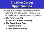 creative career opportunities