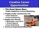 creative career opportunities60