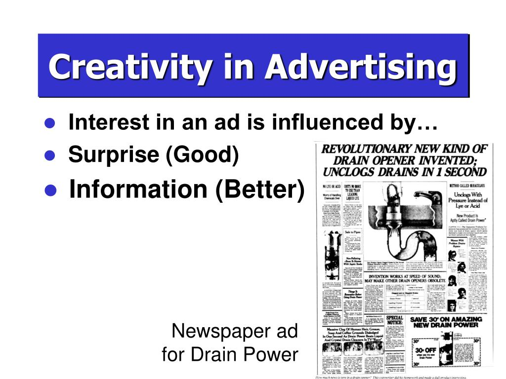 Newspaper ad for Drain Power