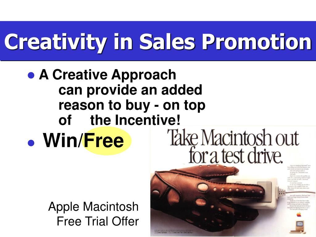 Creativity in Sales Promotion