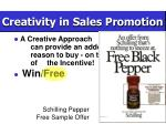 creativity in sales promotion20