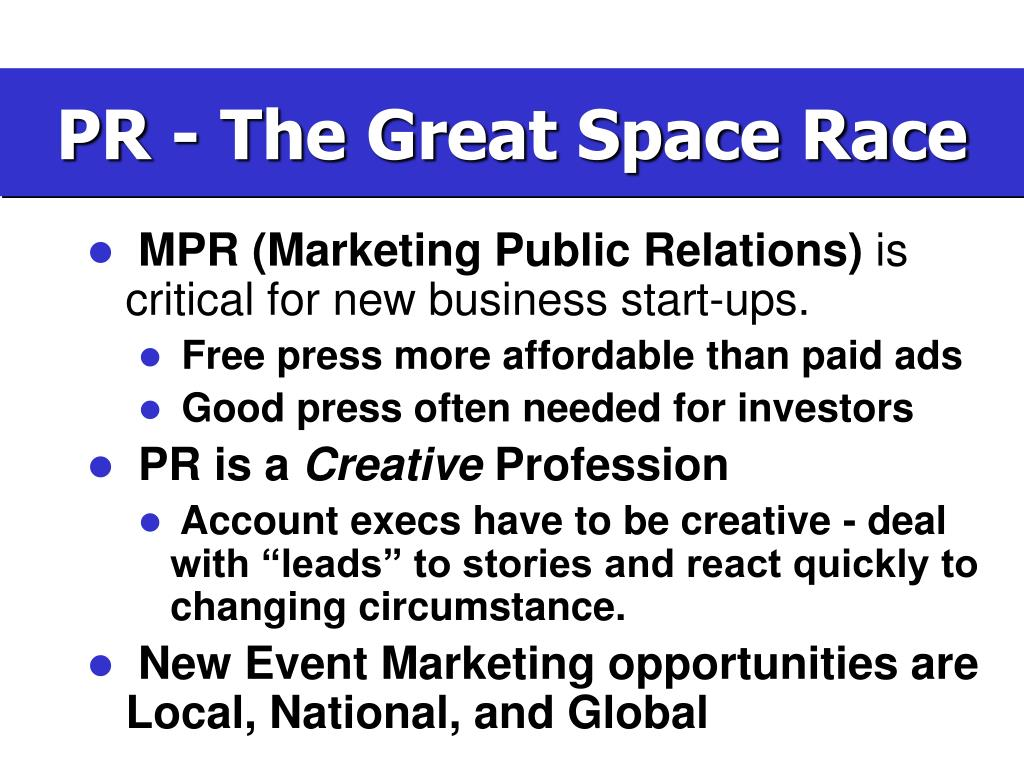 PR - The Great Space Race