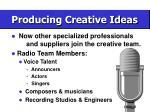 producing creative ideas54
