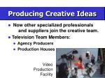 producing creative ideas55