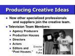 producing creative ideas56
