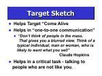 target sketch