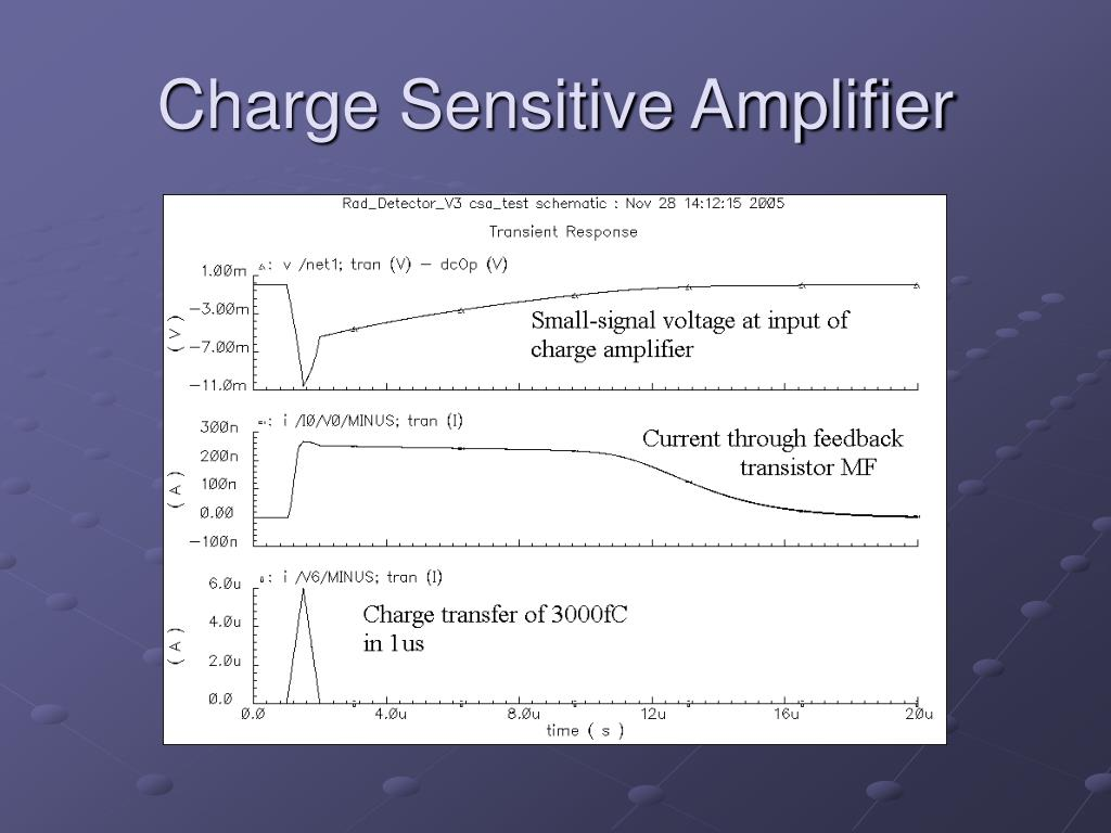 Charge Sensitive Amplifier