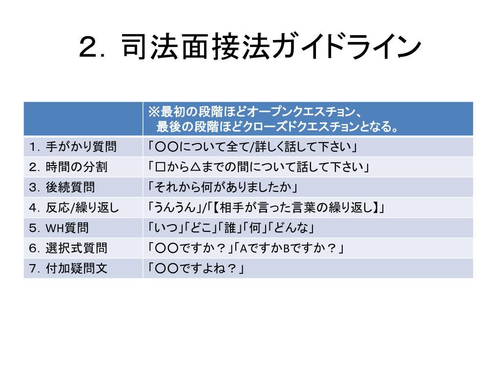 2.司法面接法ガイドライン