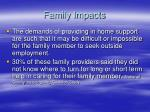 family impacts