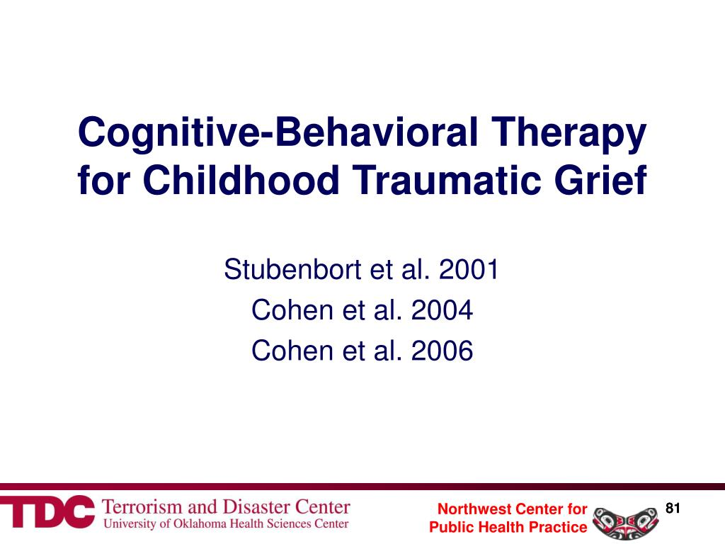 Cognitive-Behavioral Therapy for Childhood Traumatic Grief