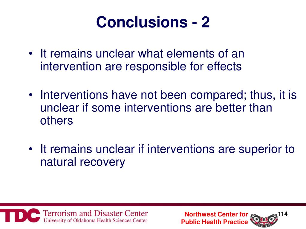 Conclusions - 2