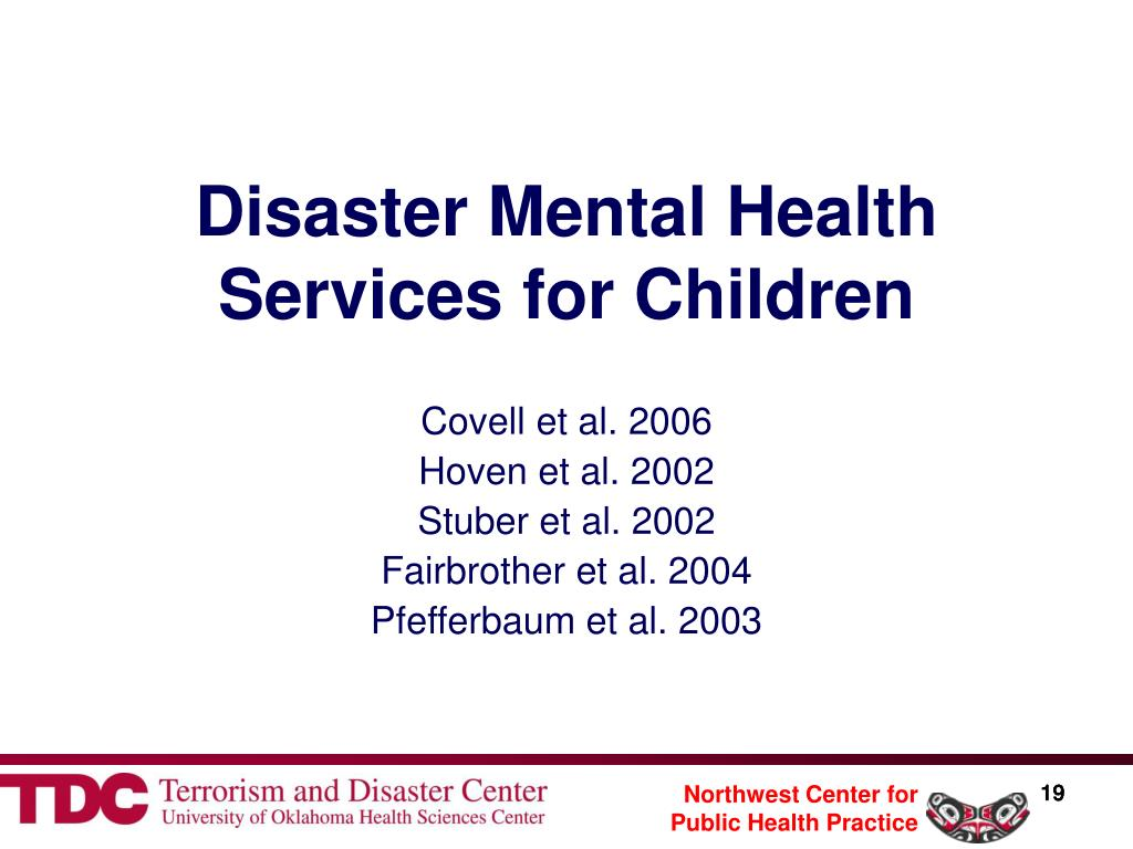 Disaster Mental Health Services for Children